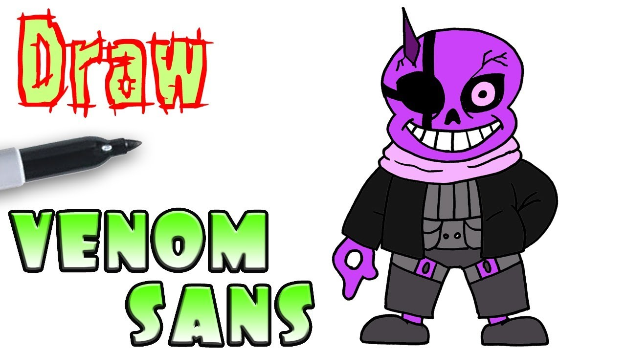 How To Draw Venom Sans Undertale Youtube