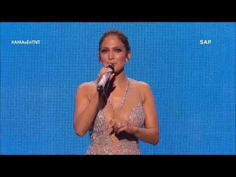 Jennifer Lopez hosting the American Music Awards 2015