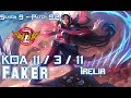 SKT Faker IRELIA vs LEBLANC Mid - Patch 9.2 KR Ranked