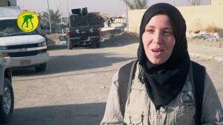 لحظة إصابة الصحفية الجزائرية سميرة مواقي في معارك العراق