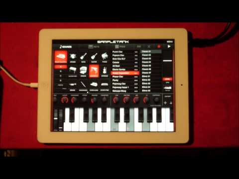SampleTank..  ALL the new sounds from the new SampleMoog sound pack for iPad