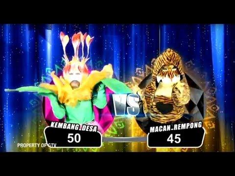 HEBOH! Kembang Desa VS Macan Rempong, Dibalik Topeng Ternyata.. | The Mask Singer S2 Eps. 1 (3/6)