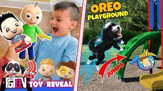 SHAWN REACTS TO OUR FGTEEV TOY LINE & OREO PUPPY uses PLAYGROUND? (FUNnel FV Family Vlog)