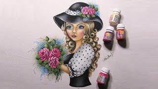 Moça do cabelos caracolados com rosas – Part 1