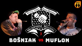 FLINT vs BOŚNIAK @ Microphone Masters 3 @ freestyle battle