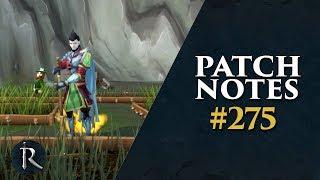 RuneScape Patch Notes #275 - 1st July 2019