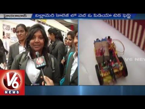 Webopedia Techfest in Villa Marie College | Benifits of Latest Technology | Hyderabad | V6 News