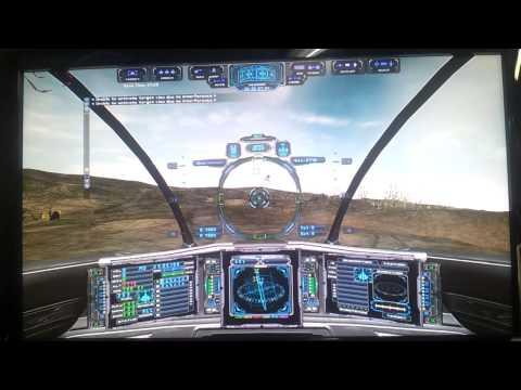 HTPC Netlabs Technology Office Multimedia jugando la Demo de Evochron Mercenary en FullHD