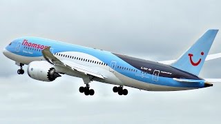 Boeing 787 at Manchester Airport | Plane Spotting Compilation | ✈