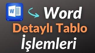 Tez için Word'te Tablo Yapımı - Satırı 2'ye bölme ve diğer işlemler.