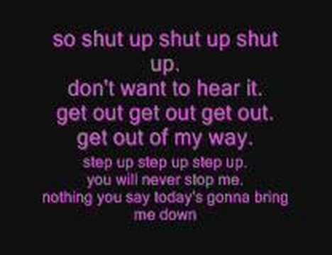 simple plan - shut up! (lyrics)
