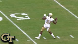 Gt Punter Pressley Harvin S Perfect Fake Punt Touchdown Pass Youtube
