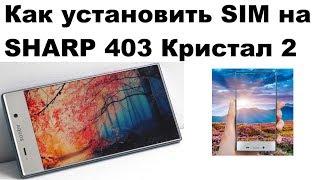 Как установить Симку и флешку на телефон SHARP 403 Cristal 2