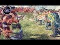 MINOTAUR VS DINOSAUR - MONSTER WORLD CINEMATIC WARHAMMER EPIC MASSIVE BATTLE