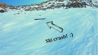 Ski Crash on the Tunnel - Full Run | Alpe D'Huez 2019