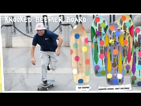 "Krooked ""Pure Evil Beemer"" Skateboard by Mark Gonzales"