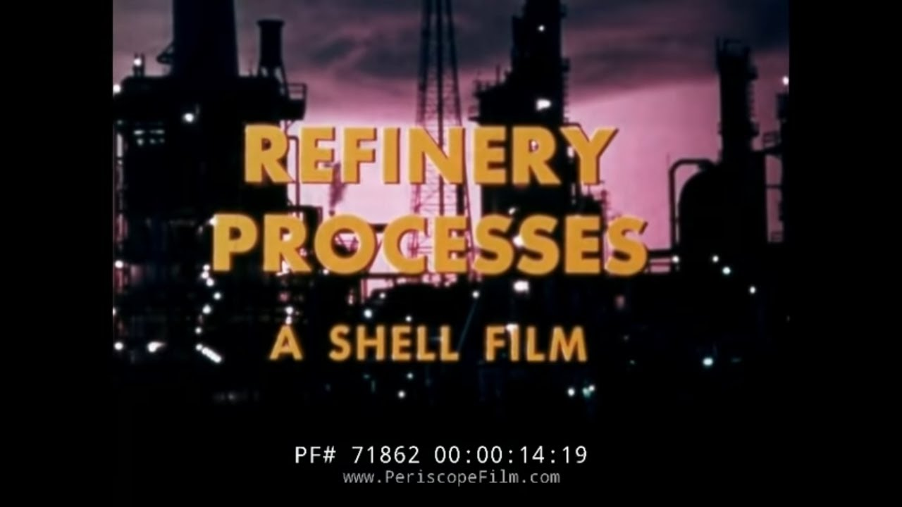 HOW AN OIL REFINERY WORKS SHELL OIL HISTORIC FILM 71862