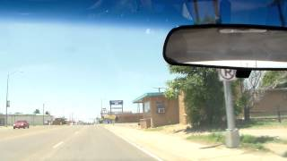 Driving down U.S Route 66 in Tucumcari NM