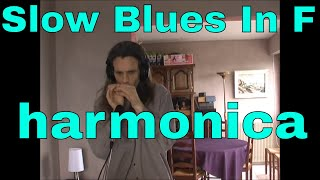 Slow Blues In F (Jamey Aebersold jazz) - diatonic harmonica in Bb