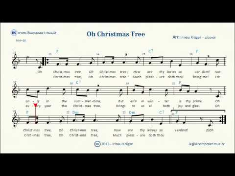 - O CHRISTMAS TREE - ( Sheet Music, Lyrics, Chords, Karaoke ) - YouTube