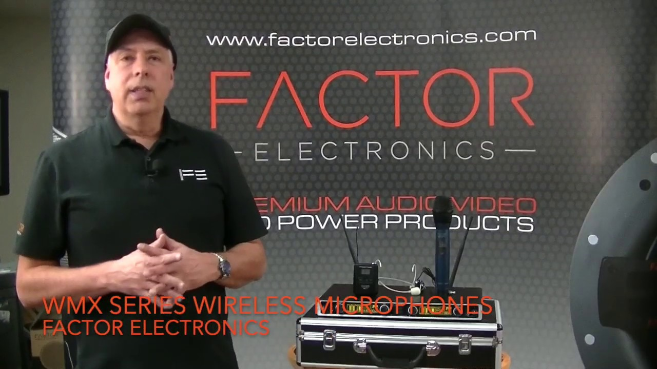 Factor Electronics new WMX Series 500 mHz Wireless Mics