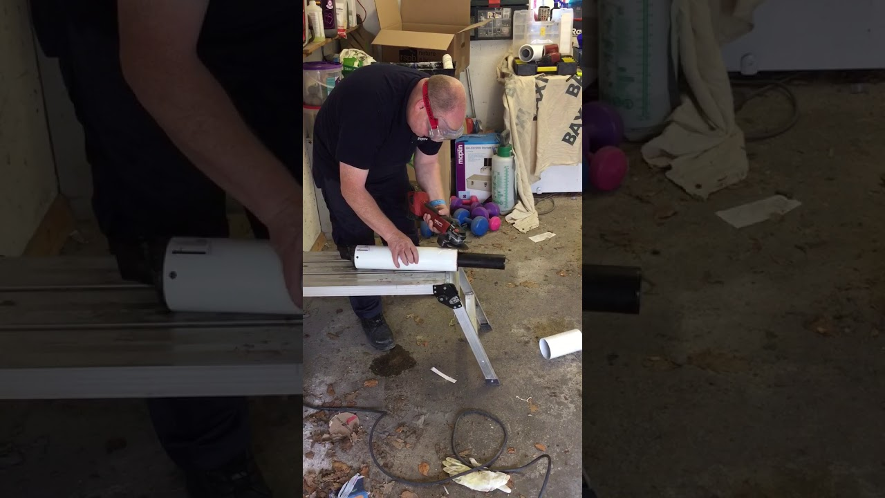 Cutting a flue in 30 seconds with a Cordless Hilti Angle Grinder 22v ...
