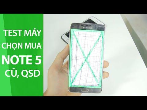 MangoTV – Hướng dẫn test máy chọn mua Samsung Note 5 cũ, QSD
