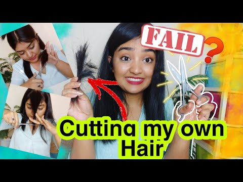 Easy Way to CUT YOUR OWN HAIR AT HOME | LAYERS AND BANGS | Snigdha Chakraborty