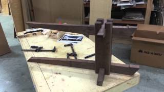 Nakashima Inspired Cantilever Bench With Eastern Traditional Joinery