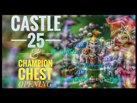 Lords Mobile - Castle 25 And Champion Chest Opening