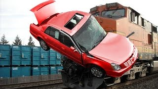 Ethiopia- Funny and luck habesha man not hurt after his car slammed into train