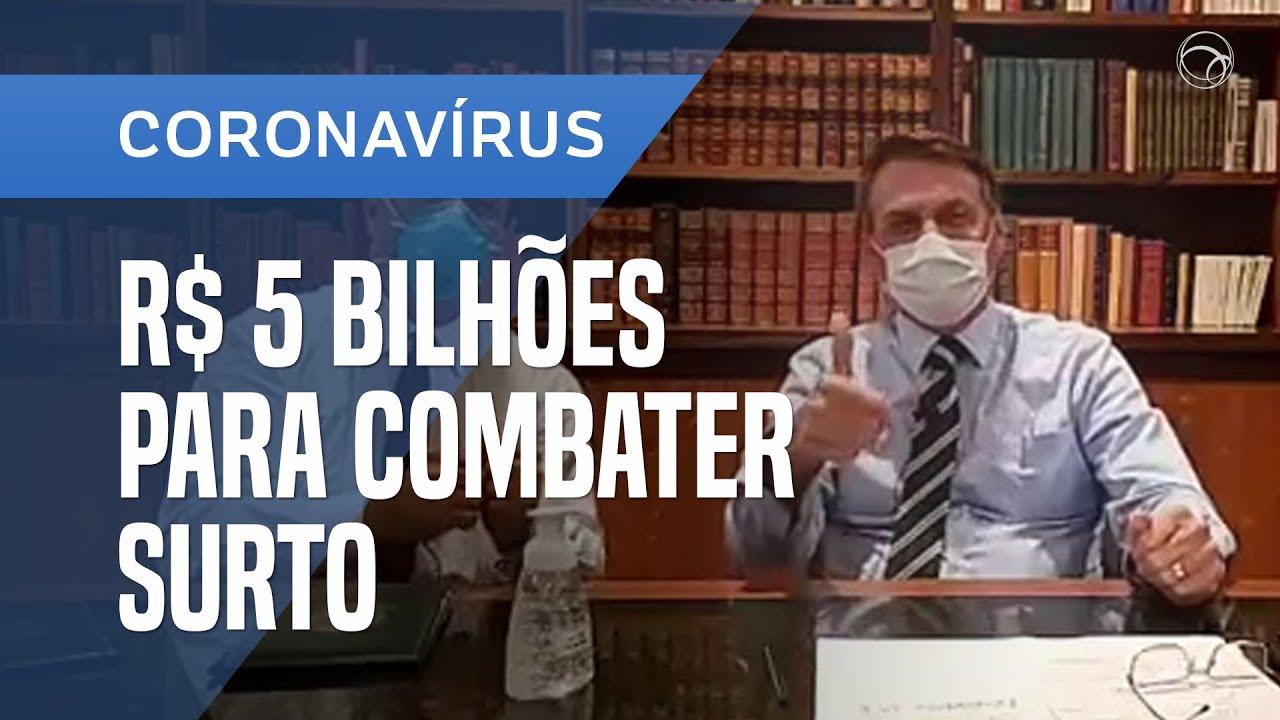 Resultado de imagem para Bolsonaro anuncia R$ 5 bilhões para combate ao coronavírus
