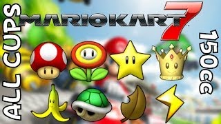 All courses in Mario Kart 7 - All cups on 150cc
