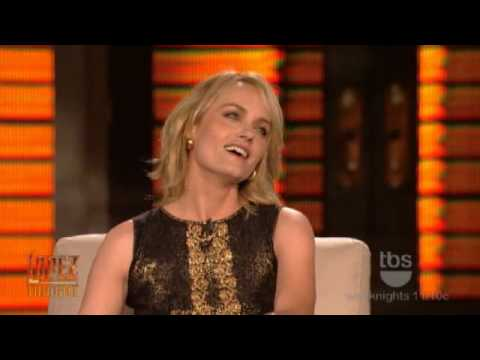 Lopez Tonight  Amber Valletta   Amber Valletta Kisses George Lopez