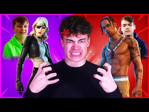 15 Skins TRYHARD à cause des joueurs PROS Fortnite !