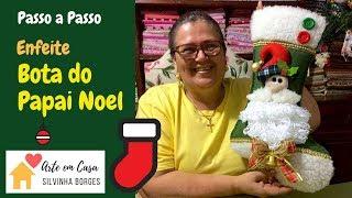 Como fazer uma Bota de Papai Noel para Enfeitar o Natal