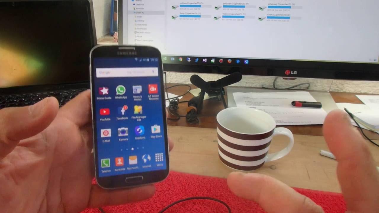 Dateien Zwischen Android Und Windows 10 Pc Ubertragen Samsung Galaxy Youtube