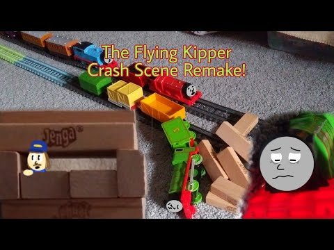 Thomas And Friends | Flying Kipper Crash Scene Remake! (Trackmaster, TOMY, Plarail)