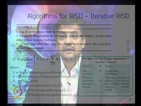 Mod-01 Lec-36 Resource Constrained WSD; Parsing