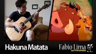"Hakuna Matata ""The Lion King"" on Acoustic Guitar by GuitarGamer (Fabio Lima) Resimi"