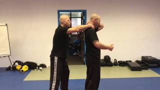 Release vs Pulling Choke from the Rear, with Amnon Darsa at Institute Krav Maga Netherlands
