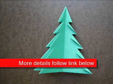 the best attitude 45a7d b35af Paper Folding Origami Christmas Tree 1
