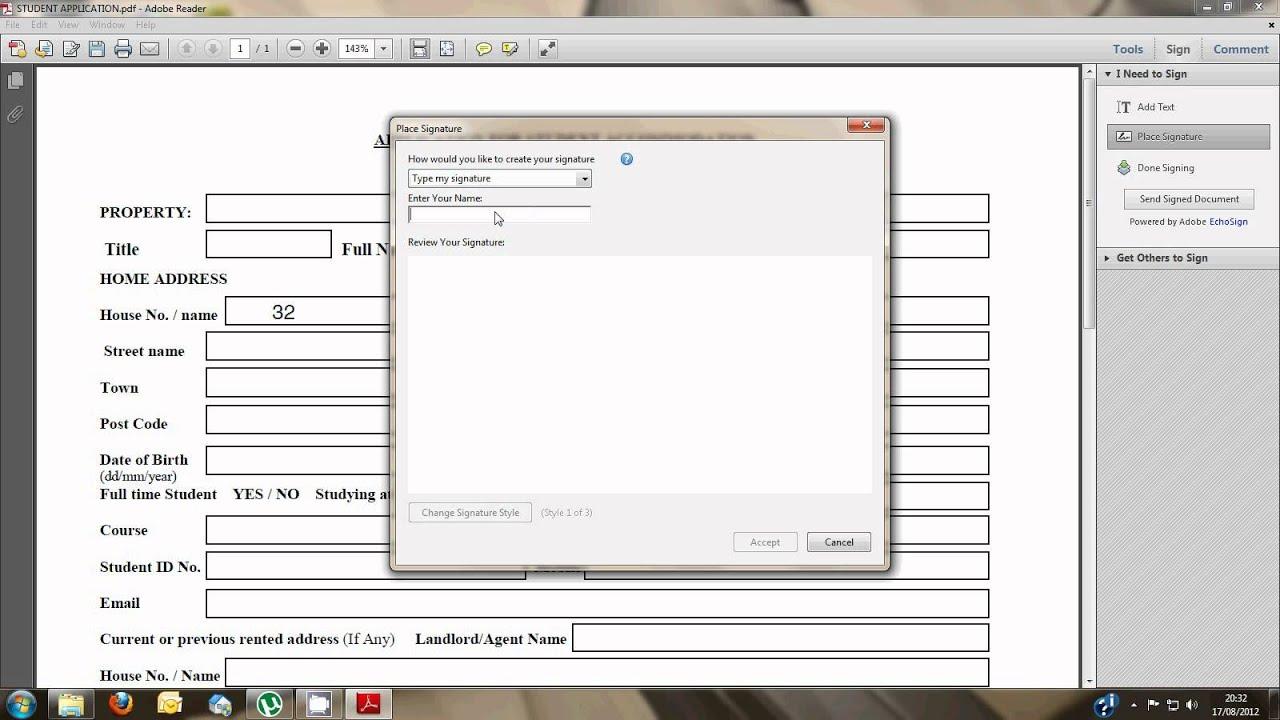 Sign edit pdf document using adobe reader x youtube sign edit pdf document using adobe reader x ccuart Gallery