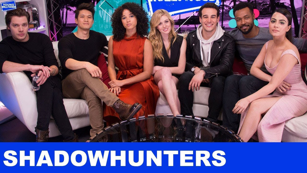 Shadowhunters Cast Take Over The Young Hollywood Studio! - YouTube