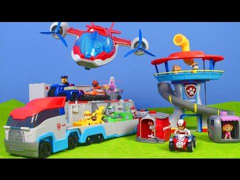 Paw Patrol deutsch: Lookout Spielzeug, Paw & Air Patroller, Feuerwehrmann Marshall, Chase & Skye