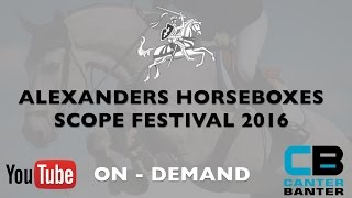 Alexanders Horseboxes Scope Festival   Great Coffee Children on Horses Championship