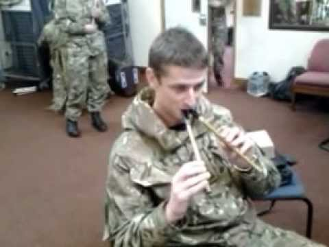 Alen Bell with 2 penny whistles messing about in the practice room