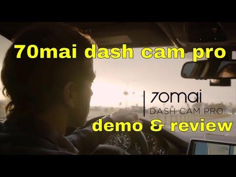 70mai Dash Cam With WiFi ADAS G-Sensor & DVR Demo And Review