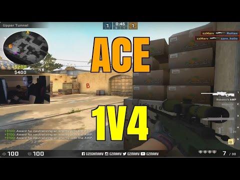 ESEA CS:GO   ACE 1V4 CLUTCH