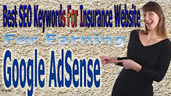 SEO Keywords for Auto Insurance Company & Cheap Car Insurance Website